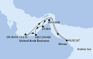 Crociera MSC Bellissima Emirati Arabi