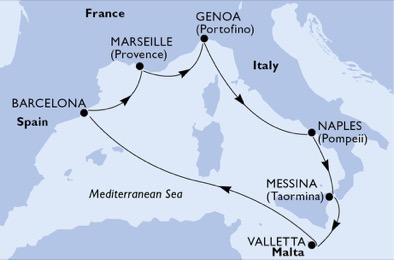 Crociera MSC Grandiosa partenza da Napoli