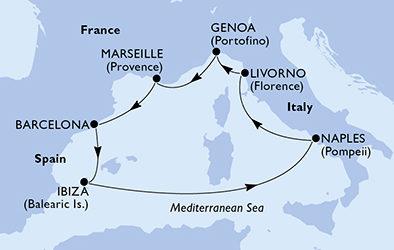 Crociera MSC Divina partenza da Napoli