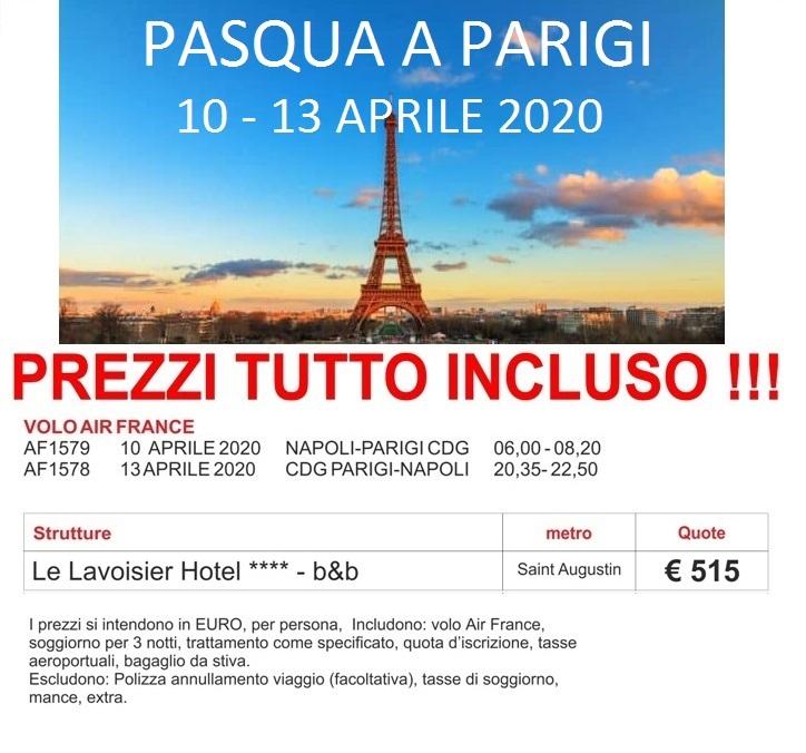 Pasqua a Parigi 10 - 13 Aprile 2020 | Viaggi in...altalena