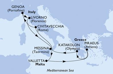 Crociera MSC MAGNIFICA, Partenza da Civitavecchia 28 ottobre 2020